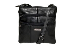Lorenz Black Sheep Nappa Small Twin Section Bag