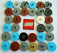 marron 6 x LEGO 18674 Plaque Ronde Trou Round Tile 2x2 Open Stud NEUF NEW