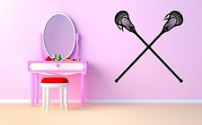 Wall Room Decor Art Vinyl Sticker Mural Decal Lacroosse Lax Racket Poster SA196