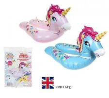 "22"" 56cm Inflatable Unicorn Split Swimming Ring Water Float Raft Pool Beach Pink"