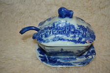 """Royal Arms"""" mark,Victoria Ironstone 4 pc Soup Tureen, Underplate, Lid + Ladle -"""