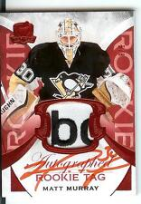 15/16 UD The Cup #115 Red Rookie Tag Logo Autograph Matt Murray #5/8 Penguins