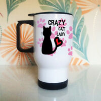 Crazy Cat Lady Travel Mug - Cat Lover - Cats - Obsessed - Funny Gifts - Thermal