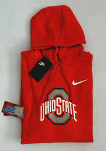 Men's Nike Hoodie Ohio State Buckeyes Red Large L 2XL New NWT MSRP $55