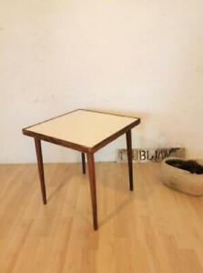 used Vintage Mid Century Small Coffee Table made of wood Retro in white with 4 l
