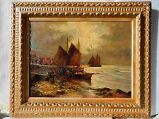BRETAGNE Marcel FALCINELLI 1900-1980 Tableau Peinture Huile IMPRESSIONNISTE