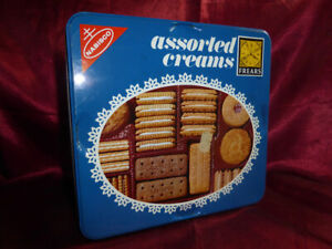 Vintage TIN Nabisco Assorted Creams Biscuits - Frears Food Advertising