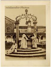 Italian Monks. Alinari? Brogi?, Orig. Photo, ca. 1880