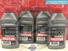 Olio MOTUL RBF 600 FACTORY DOT 4 Liquido Fluido FRENI FRIZIONI Idraul. 4 x 500ml