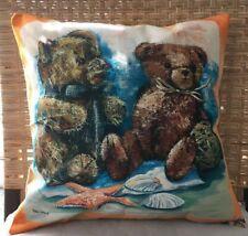Teddy Bears On The Beach Cushion Cover Nursery Decor beachhouse2017