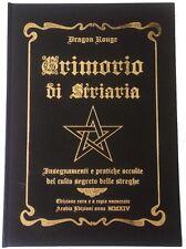 GRIMORIO DI STRIARIA esoterismo magia rituali stregoneria RARO PER COLLEZIONISTI