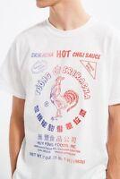 SRIRACHA HOT CHILI SAUCE T-Shirt White NWT Licensed & Official
