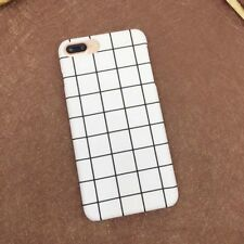 Grid checks Phone Cases For iphone 8 7 6 6s Plus Case Matte Hard PC Back Cover