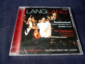 CD Lang Lang Rachmaninoff Piano No. 3 +Scriabin Etudes Live At Proms 2002 Telarc