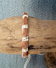 Friendship Bracelet Adjustable Genuine Leather Beach Surf Mens Womens