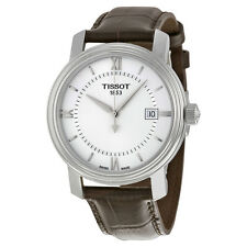 Tissot Bridgeport Quartz Silver Dial Brown Leather Mens Watch T0974101603800