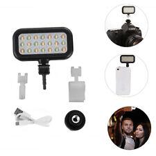 Adjustable 21 LED Lamp Video light Selfie Fill For Camera DV Smart Phone Tablet