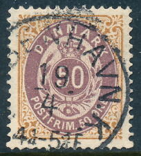 Denmark Scott 33/Afa 30, 50ø brown/violet Bicolour, Vf-Xf fresh Used, 5th print