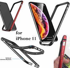 "For iPhone 11 / iPhone XR (6.1"") - Hard Aluminum Metal Rubber BUMPER FRAME Case"