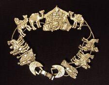 TOFA Charm Bracelet ~ Bethlehem Theme, Silver Tone Classic 1995 Slider  #5430210