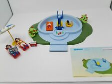 RARE Vintage 2003  Playmobil 3205 Swimming Pool with Working Shower - Complete