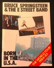 Bruce Springsteen & The E Street Band Born In The USA Tour Book Program 1984-85