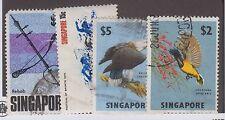 SINGAPORE #68, #69, #109 & #123 USED SET