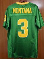 New Joe Montana #3 Football Jersey Fighting Irish Notre Dame Stitched Green