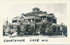 Lusk WY * Courthouse RPPC ca 1940s *