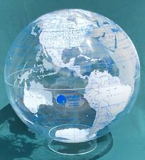 "Vintage 50"" Spherical Concepts Clear GLOBE - Nelson Rockefeller Institute 16""dia"