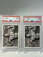 1990 Score Bo Jackson #697 MINT PSA 9 sequentially PSA numbered 2 card lot