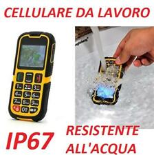 Cellulare GSM IP67 ExtremeZ Giallo Dual Sim Fotocamera Antiurto Impermeabile