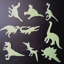 9Pcs Glow in the Dark Night Dinosaurs Stickers Kids Room Wall Art Decoration