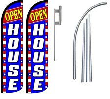 Open House Standard Windless Swooper Flag With 2  Complete Kit