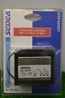 COUPLEUR 3 ENTREES VHF +21-54CC + 57-68CC CABLE TV TELEVISION RACCORD