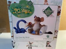 """Charming Tails """"You Color My World"""" Nib"""