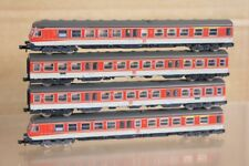 FLEISCHMANN 7430 7433 N SCALE DB ORANGE GREY CLASS BR 614 038-8 DMU 4 CAR SET nr