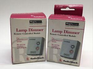Lot of 2 Radio Shack Lamp Dimmer Module 61-2682 Plug N Power
