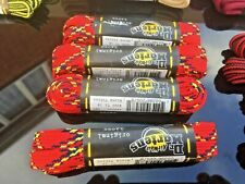 Dr Martens 140 cm red yellow blue flat 10 mm laces Made in England