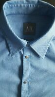 ARMANI EXCHANGE AX Men Modern Fit Premium Cotton Long Sleeve Dress Shirt - Small