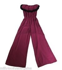 New Womens Black & Purple NEXT Jumpsuit Size 10 RRP £45 DEFECTS