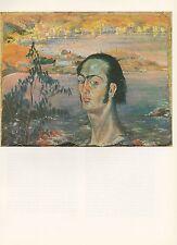 """1976 Vintage SALVADOR DALI """"SELF PORTRAIT, NECK OF RAPHAEL"""" Color Art Lithograph"""