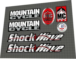 2000 Mountain Cycle Shockwave DECAL SET