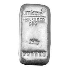 More details for umicore 250 gram silver bullion bar new & sealed