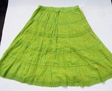 Women Skirt JMB Signature Plus Size 2X Green Full Skirt elastic waist