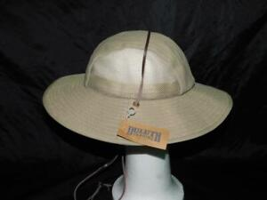 Duluth Trading L NWT Khaki Brown Crusher Packable Sun Hat Womens NEW Vented Mesh
