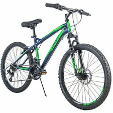 "NEW Huffy 24"" Nighthawk Boys Mountain Bike Blue GreenFREE SHIP"
