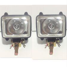 "2pc Back/Up Work Lamp Light 3.5"" x 3.5"" 55w Bulb Tow Hitch Bumper Backup Reverse"