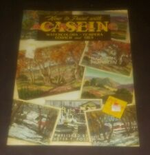 How to Paint With Casein Acrylic Eugene M. Frandzen Walter T. Foster art book
