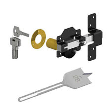 Gatemate 50mm Security Rim Lock for Garden Gate Long Throw Bar & Spade Drill